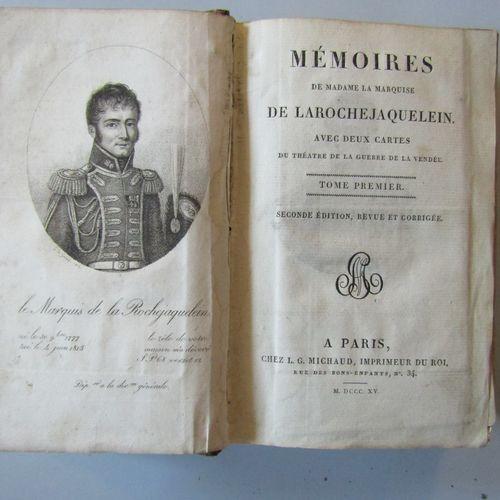 """MEMOIRES DE MADAME LA MARQUISE DE ROCHEJAQUELEIN"", Paris, chez L. Michaud, 1815…"