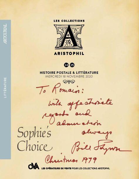 [VENTE MAINTENUE] 34 • LES COLLECTIONS ARISTOPHIL • HISTOIRE POSTALE PAR ARTCURIAL