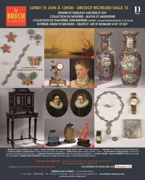 Tableaux anciens et du XIXè siècle, Objets d'art et Mobilier