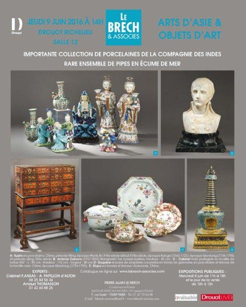 ARTS D'ASIE & OBJETS D'ART - EXCEPTIONNELLE COLLECTION DE PORCELAINES DE LA COMPAGNIE DES INDES