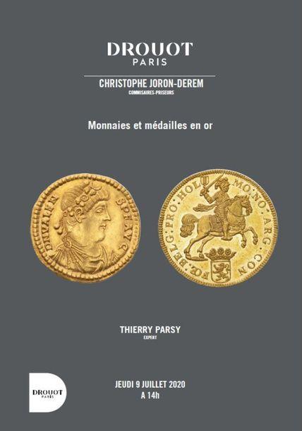 Numismatique : ensemble exceptionnel de monnaies et médailles en or de provenances prestigieuses