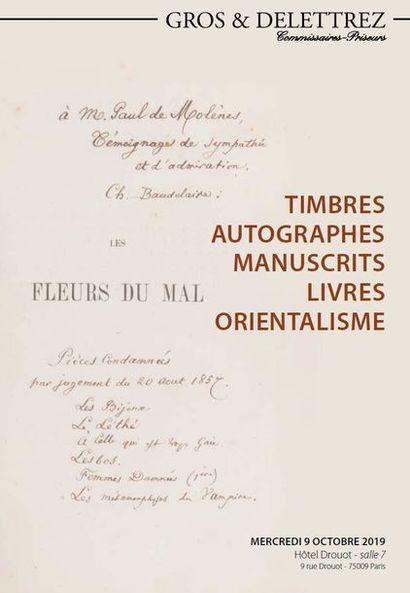TIMBRES - AUTOGRAPHES - MANUSCRITS - LIVRES - ORIENTALISME
