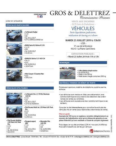Catalogue sur MoniteurLive.com - Véhicules - Suite liquidation judiciaires, réalisation de leasing et à divers