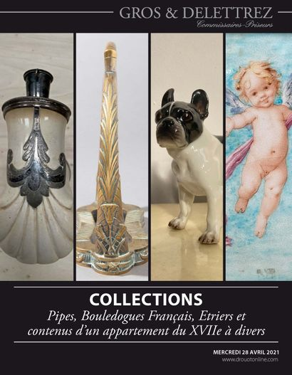 Collections - Pipes, French Bulldogs, Stirrups and contents of a 17th century apartment to various