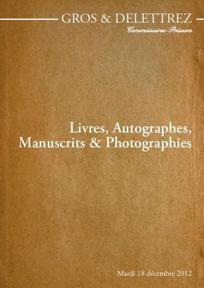 LIVRES MANUSCRITS ET AUTOGRAPHES