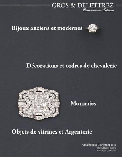 Bijoux anciens & modernes Décorations et ordres de chevalerie Monnaies Objets de vitrines et argenterie