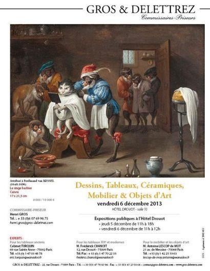 Dessins, Tableaux, Céramiques, Mobilier & Objets d'Art