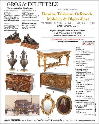 Dessins, Tableaux, Orfèvrerie, Mobilier & Objets d'Art