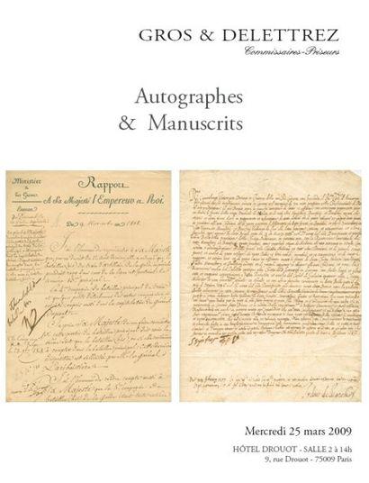 Autographes & Manuscrits
