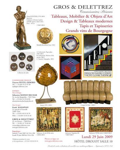 Tableaux, Mobilier & Objets d'Art - Design - Tapis - Grands vins de Bourgogne