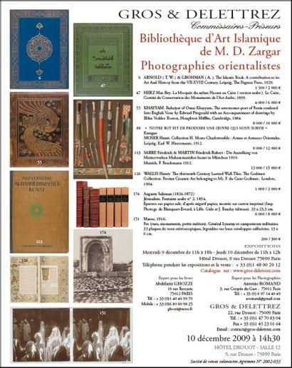 Bibliothèque d'Art Islamique - Photographies orientalistes