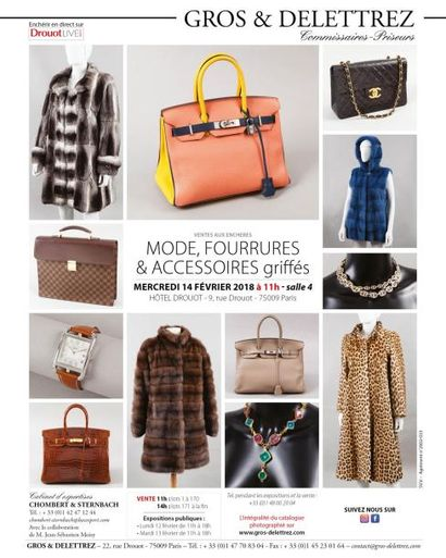 Mode, fourrures et accessoires griffés </br>(vente à 11h et 14h)