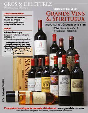 Vins & Spiritueux - Vente du 8 décembre reportée au 19 décembre à 15h