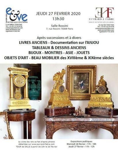 VENTE COURANTE )1( MOBILIER, OBJETS d'ART et TABLEAUX