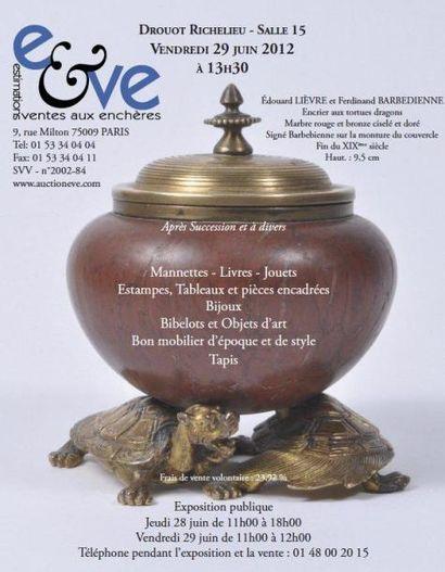 Meubles et objets d'art (sans catalogue)