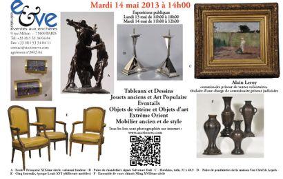 Jouets, tableaux, mobilier et objets d'art