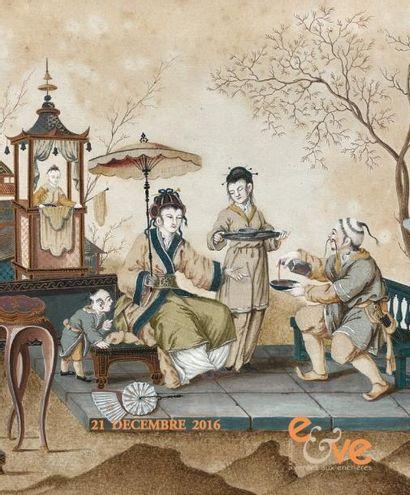 TABLEAUX ANCIENS - OBJETS D'ART ET DE TRES BEL AMEUBLEMENT