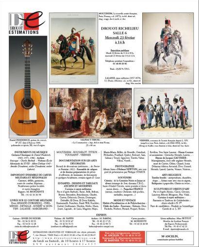 Tableaux, objets d'art et d'ameublement, instruments de musique ...