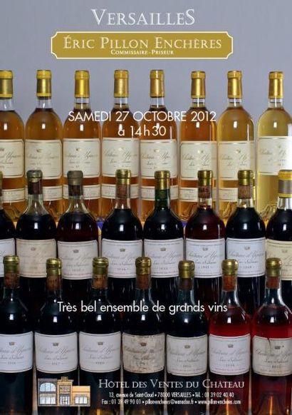 Vente de grand vins et alcool