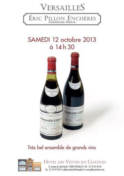 Vente de grands vins et alcools