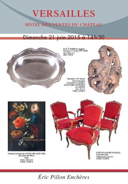 Tableaux anciens – Dessins Gravures – Argenterie Arts de la table – Objets d'art Mobilier XVIIIe siècle