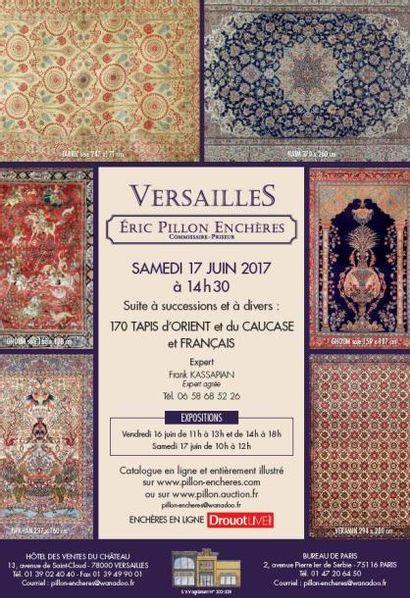 Suite à successions et à divers : 170 tapis d'Orient et du Caucase et français