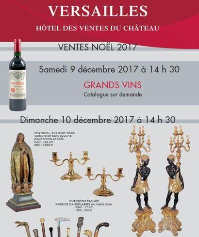 Vente « Noël » Collections de cannes  - arts de la table – arts religieux – objets de vitrine
