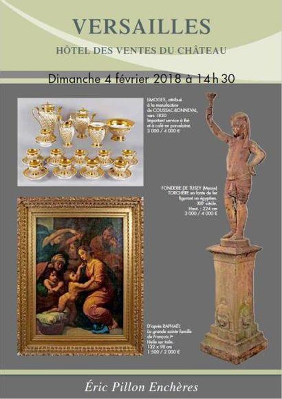 Tableaux anciens et du XIXe - Objets d'art - Pendules - Lustres Bronzes - Glaces  Mobilier du XVIIIe et XIXe