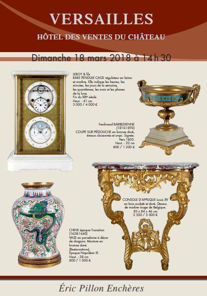 Tableaux anciens et XIXe - Argenterie - Arts de la table Arts d'Asie  - Objets d'art - Bronzes - Mobilier XVIII et XIXe