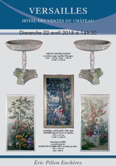 Tableaux anciens - Dessins - Gravures - Bronzes Mobilier du XVIIIe et XIXe - Tapisseries ART DU XXe ET DESIGN Verrerie - Objets d'art - Mobilier