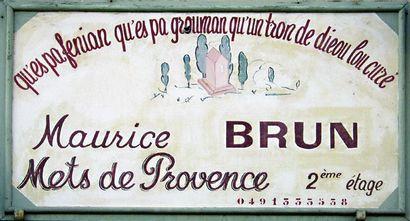 Chez Monsieur Brun - Mets de Provence - Chez Maurice Brun