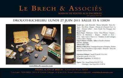Meubles et objets d'art, vin et bijoux
