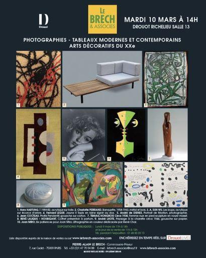 Photographies, Tableaux Modernes et contemporains, Arts Décoratifs du XXe siècle