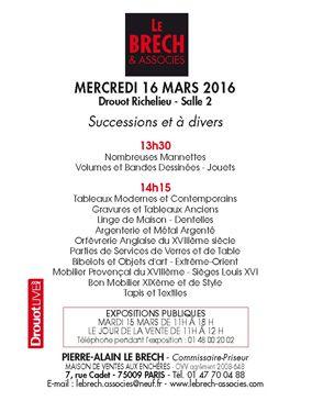 TABLEAUX ANCIENS ET MODERNES, ARGENTERIE, OBJETS D'ART ET MOBILIER- 11h30 et 14h00