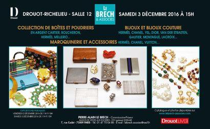 Collection de boîtes et poudriers en argent, bijoux, bijoux couture, maroquinerie et accessoires