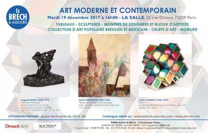 ARTS DU XXème SIECLE - TABLEAUX, SCULPTURES, LUMINAIRES, MOBILIER - BIJOUX ET MONTRES D'ARTISTES