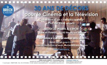 30 ans de décors pour le Cinéma et  télévison - Collection d'un chef décorateur