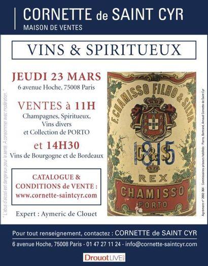 Vente à 11h et à 14h30 : Vins & Spiritueux