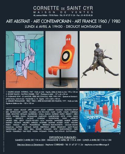 ART CONTEMPORAIN - AF 20.1 - ART FRANCE 1960 / 1980 - ART ABSTRAIT - ART CONTEMPORAIN