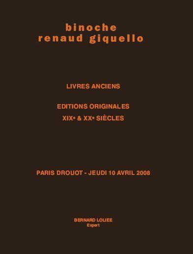 LIVRES ANCIENS, EDITIONS ORIGINALES XIXe & XXe SIÈCLES