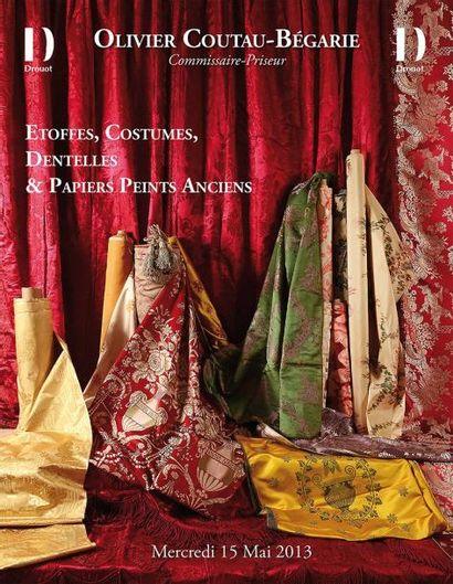 Etoffes, Costumes, Papiers Peints & Dentelles - vente à 11h00 et 13h45
