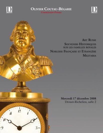 ART RUSSE Vente à 11h00  - SOUVENIRS HISTORIQUES & MILITARIA Vente à 14h00