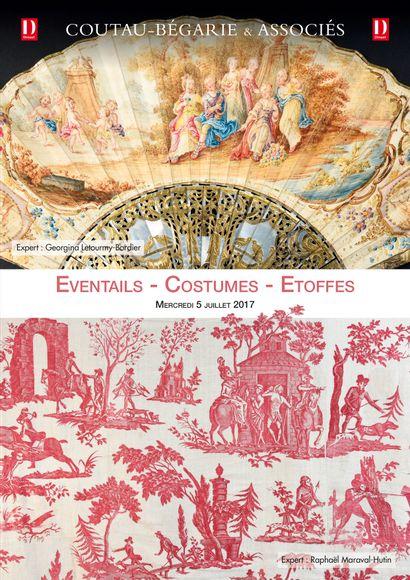 Vente à 11h et à 13h30 : Eventails - Costumes - Etoffes
