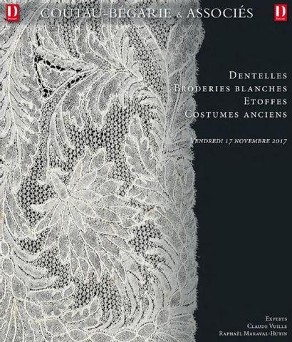 Vente à 11h et 14h : Etoffes - Costumes anciens - Dentelles - Broderies blanches