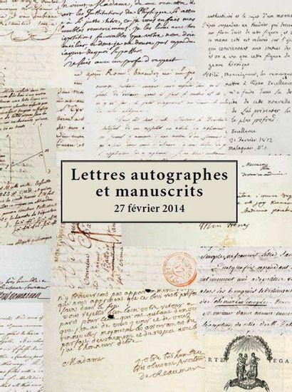 Manuscrits et autographes