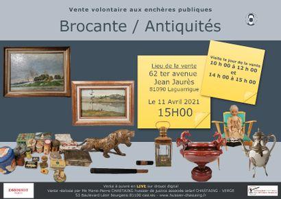 Vente Brocante Antiquités Tableaux REPORTEE AU 09.05.2021