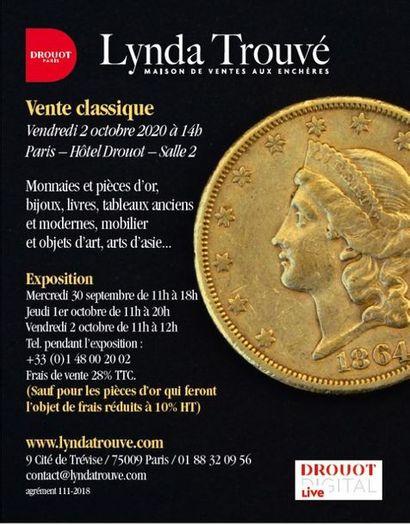 Vente Classique - Pièces d'or, bijoux, Mobilier et Objets d'Art, Tableaux, Art d'Asie