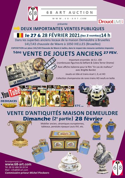 VENTE JOUETS ANCIENS 27 FEVRIER 14H