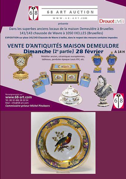 VENTE ANTIQUITES dimanche 28 février 14h : céramique, tableau, mobilier, vente Demeuldre 2e partie