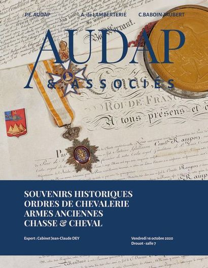 Souvenirs Historiques - Ordres de chevalerie - Armes anciennes, Chasse & cheval